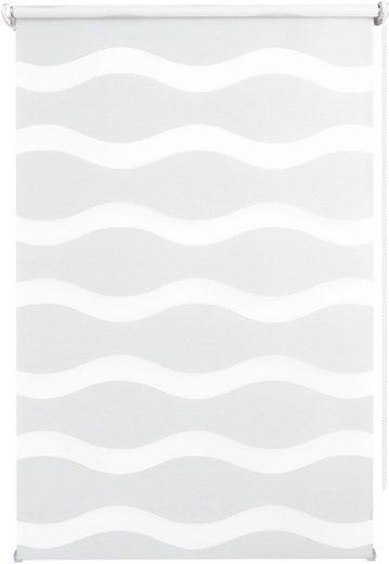 Doppelrollo »WAVE«, Good Life, Lichtschutz, ohne Bohren