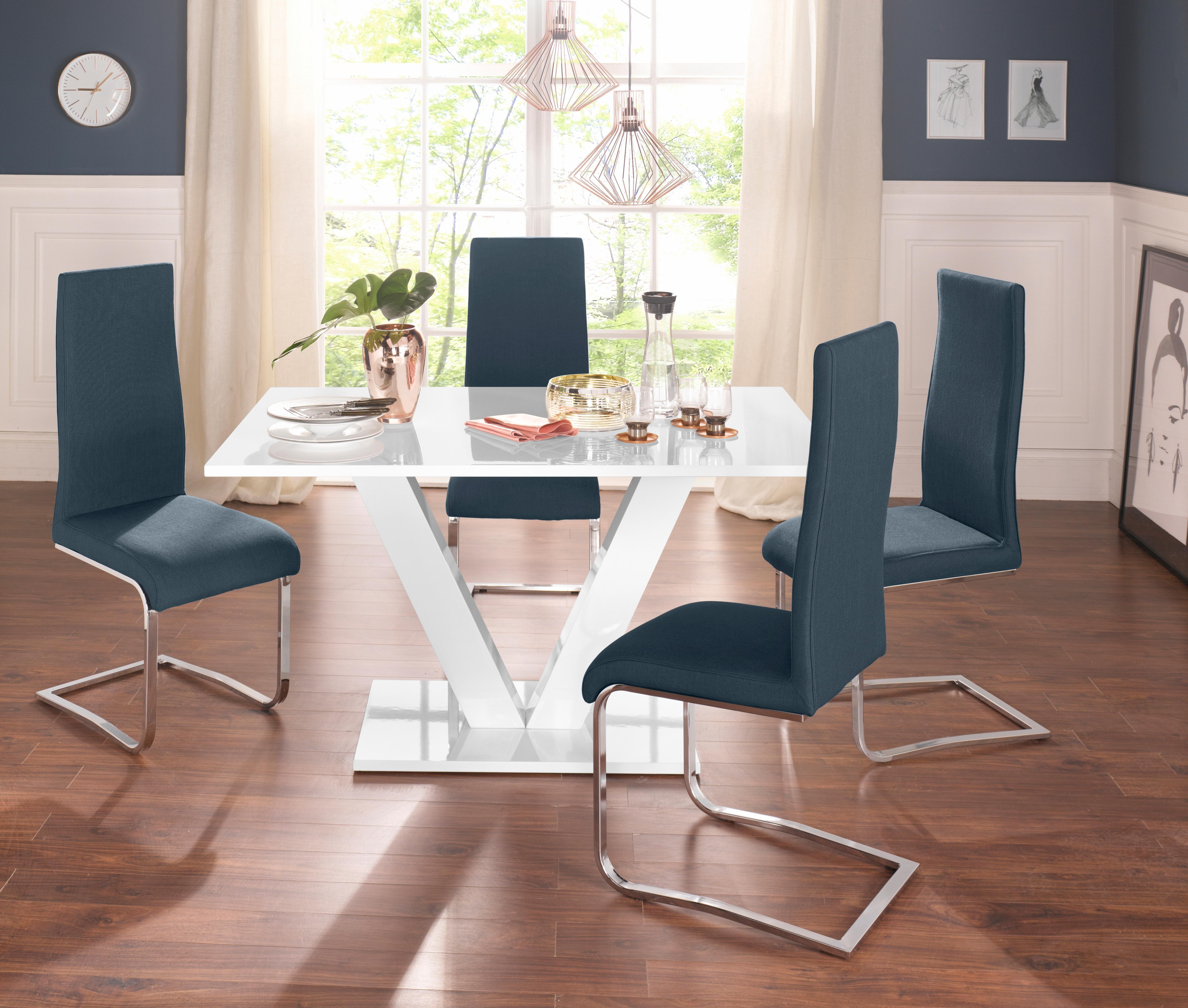 Esstisch Mit Stühlen Weiß Hochglanz Preisvergleich • Die besten ...