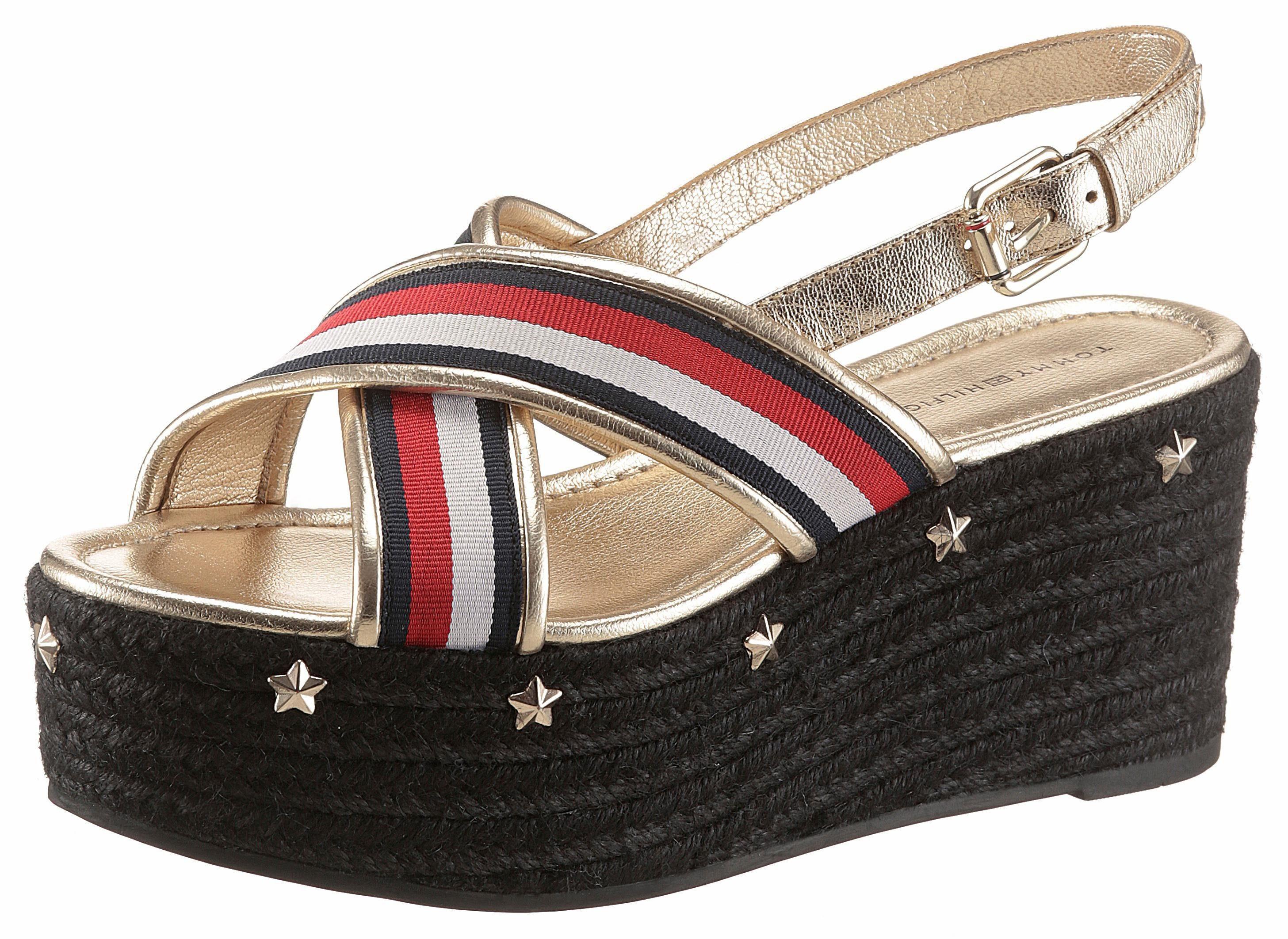 Tommy Hilfiger Sue 2 Sandalette, mit Sternapplikation auf der Sohle online kaufen  goldfarben-rot-weiß-blau