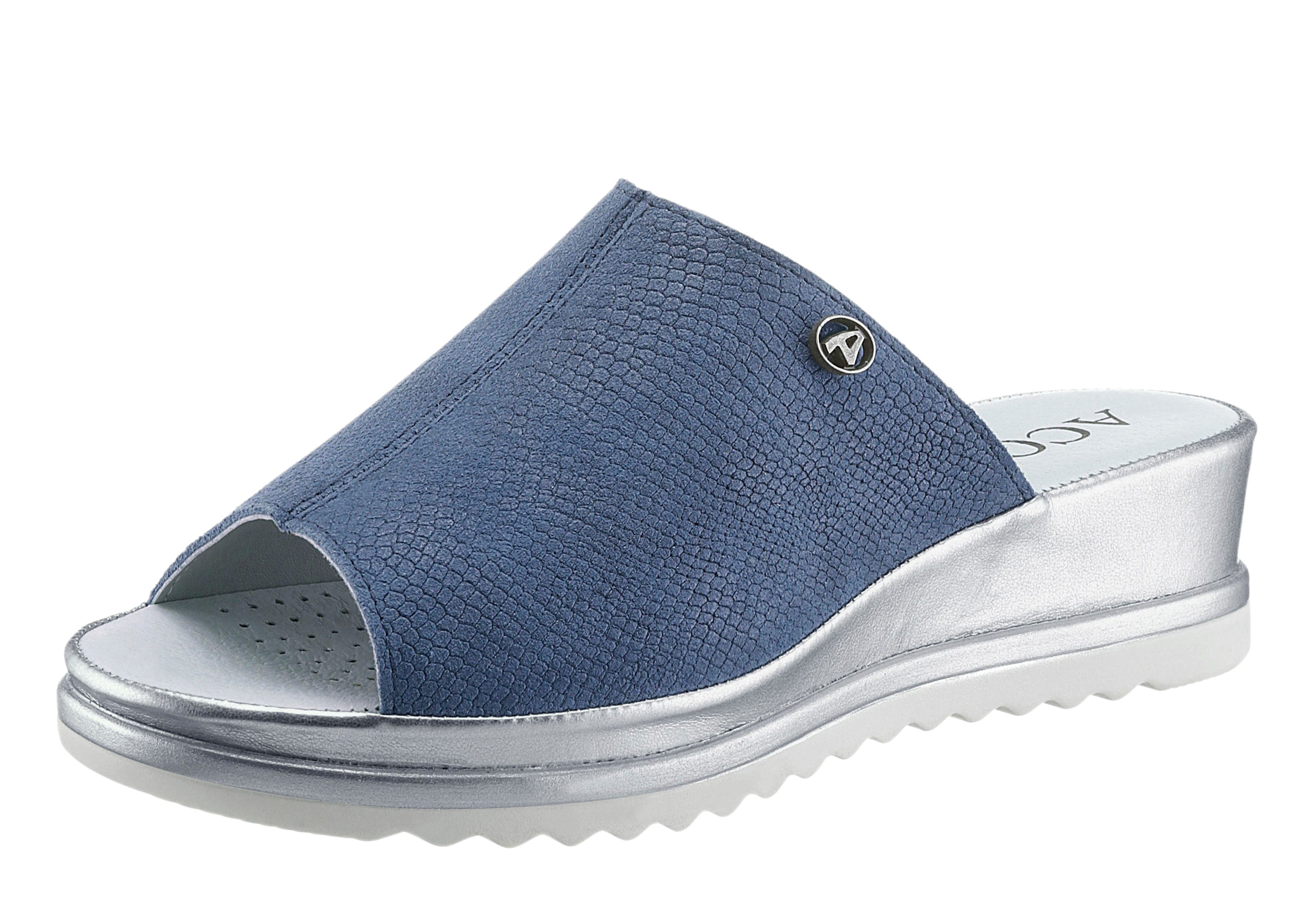 Aco Pantolette in aufwändiger California-Machart  jeansblau