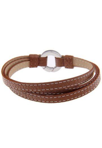 leslii Leder-Armband im Wickel-Look