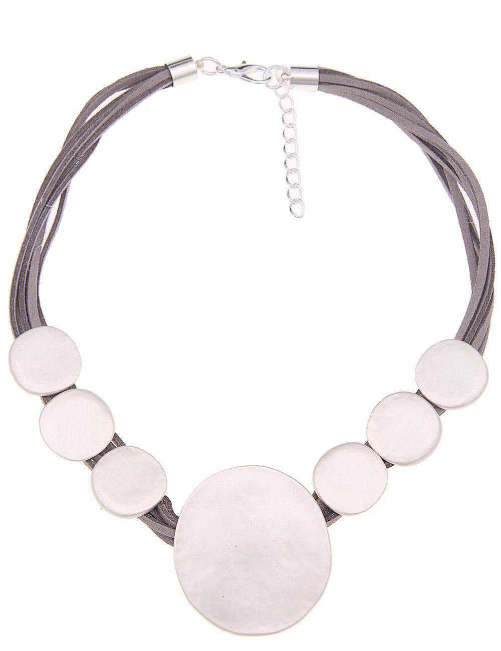 Leslii Halskette mit Scheiben-Anhängern