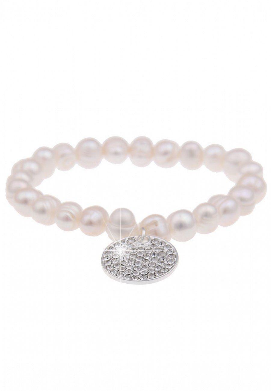 Leslii Perlen-Armband mit Glitzeranhänger