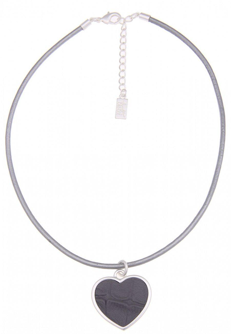 Damen Leslii Halskette mit Herz-Anhänger silber | 04250980342003
