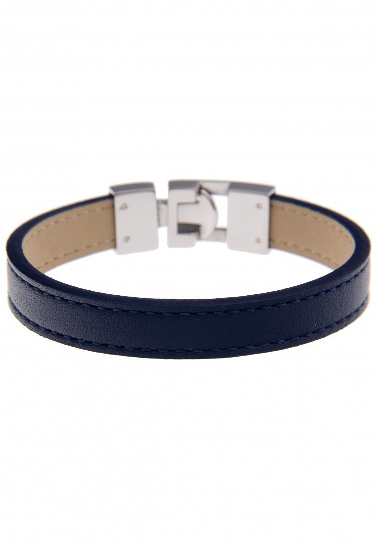 Leslii Armband aus blauem Echtleder