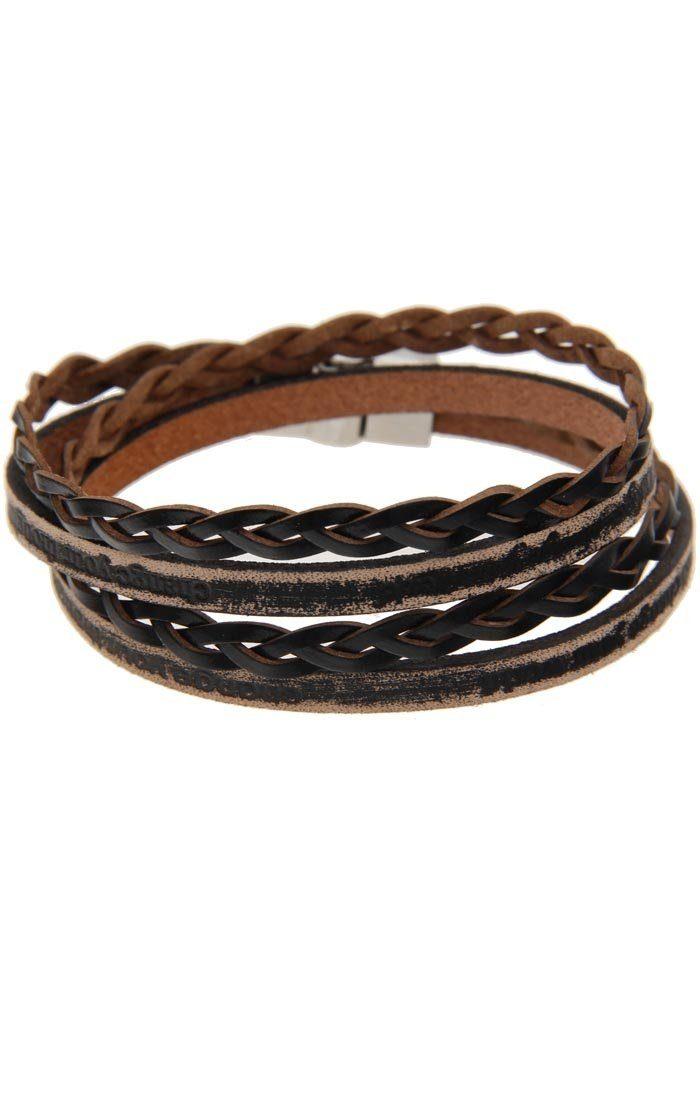 Leslii Armband mit gewickelten Lederbändern