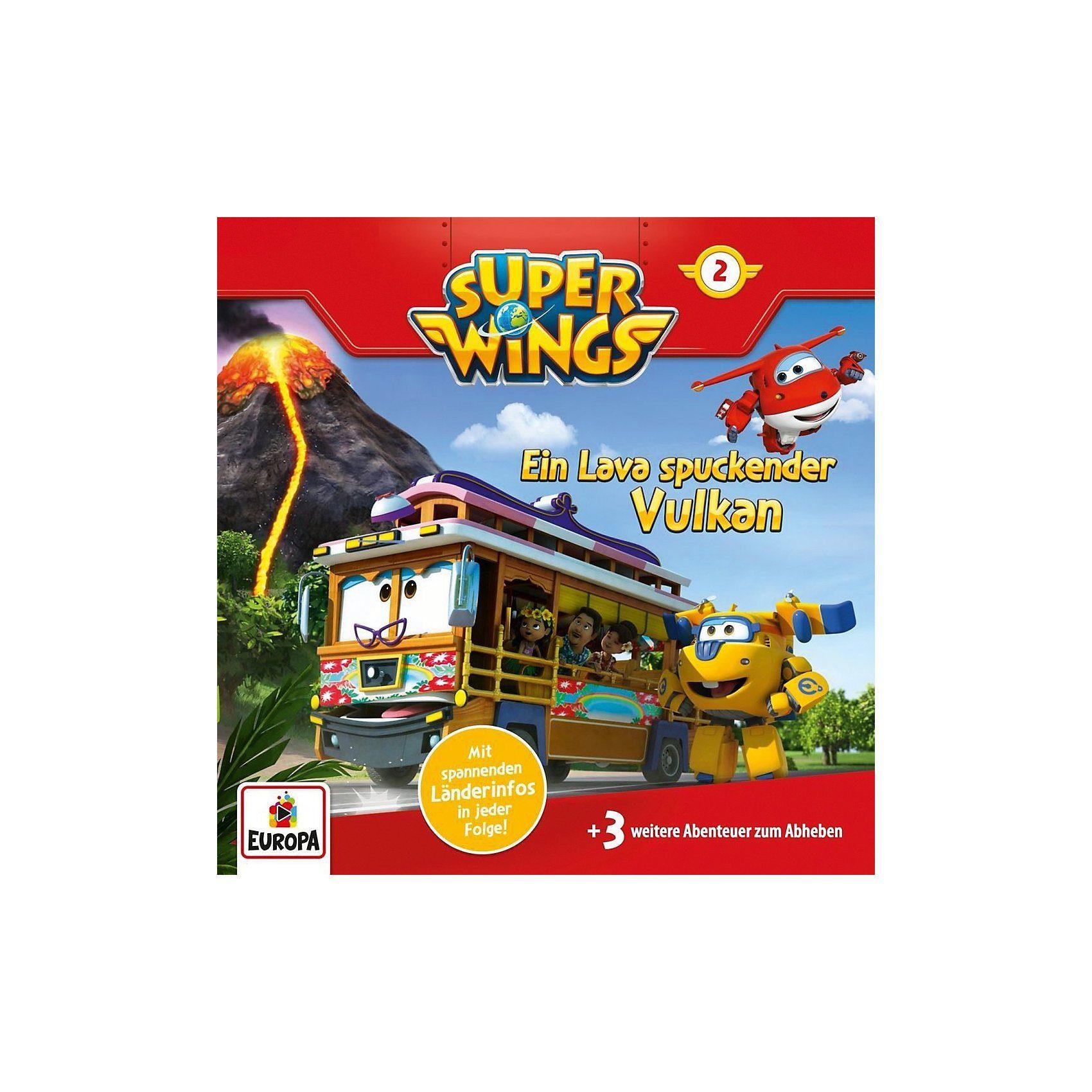 CD Super Wings 2 - Ein Lava spuckender Vulkan