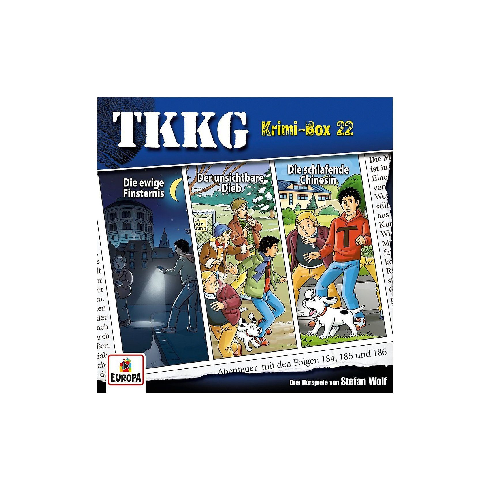 Sony CD TKKG Krimi-Box 22 (Folgen 184,185,186)