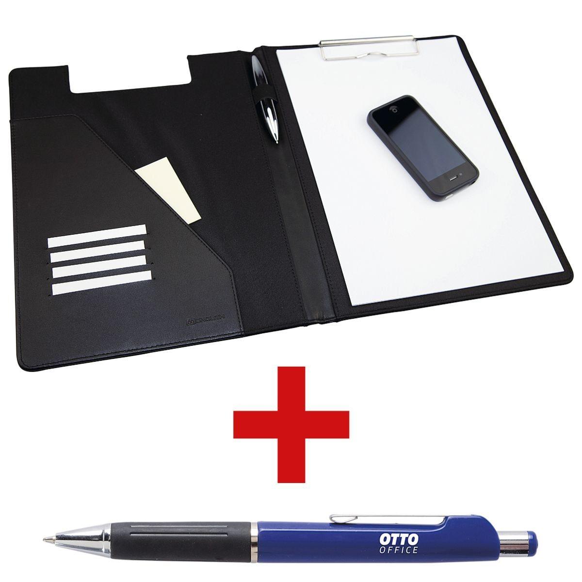 MONOLITH Schreibmappe mit Klemmbrett inkl. Kugelschreiber 1 Set