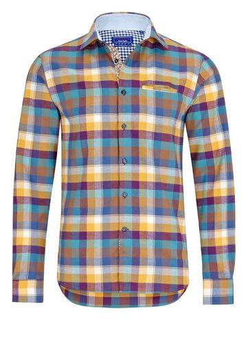 East Club London Freizeithemd mit sportlichem Karo-Muster
