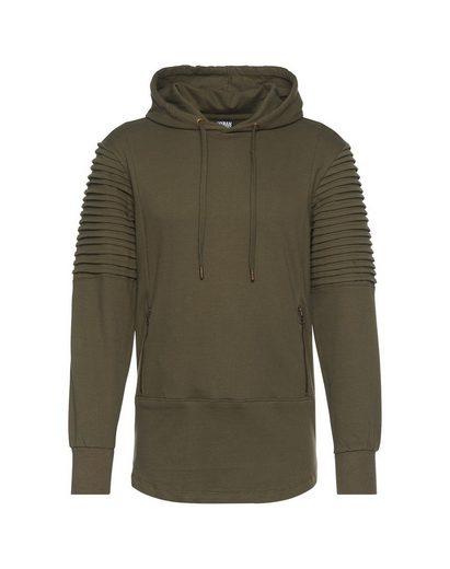URBAN CLASSICS Kapuzensweatshirt Pleat Sleeves Terry HiLo Hoody
