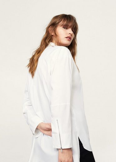 Violeta By Mango Shirt With Asymmetric Hem
