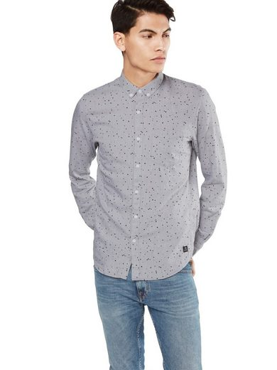 Tom Tailor Denim Langarmhemd fitted melange aop shirt