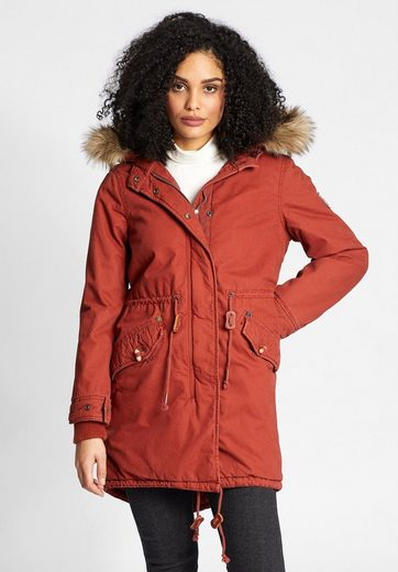 Khujo Winterjacke Caddy, Hood With Removable Long Hair Fell On The Art