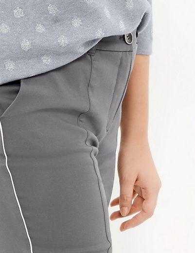 Samoon Hose Tuch/Kombi lang Stretchhose mit Seitenstreifen, Betty