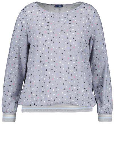 Samoon Bluse Langarm Blusenshirt mit Bündchen