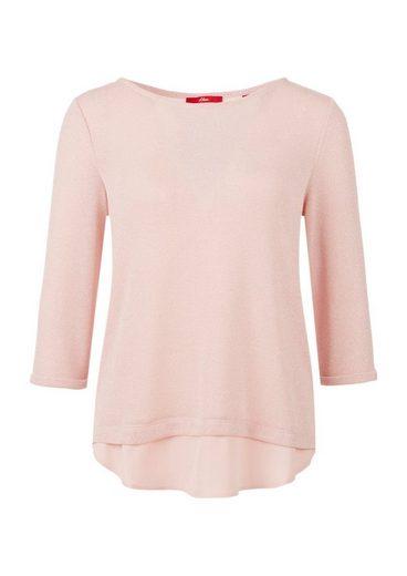 s.Oliver RED LABEL Layering-Shirt mit Glitzereffekt