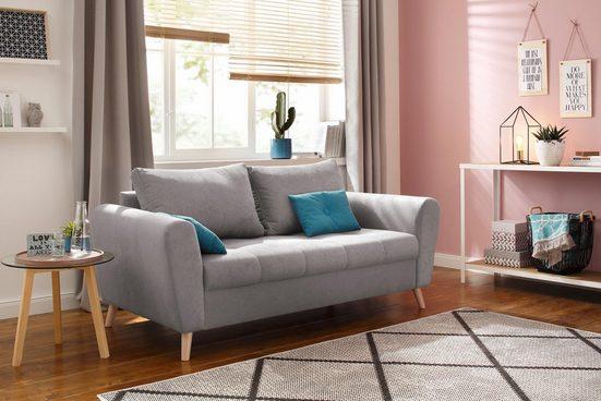 Home affaire 2,5-Sitzer »Jordsand«, mit feiner Steppung im Sitzbereich, skandinavisches Design