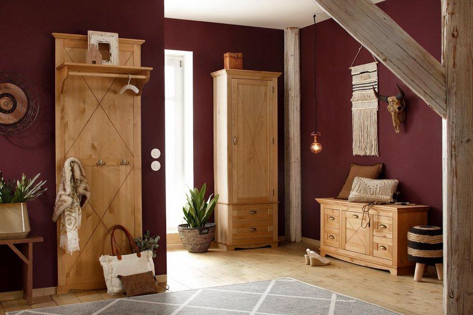 Home affaire garderobenpaneel alva mit einer ablage aus for Garderobenpaneel landhausstil