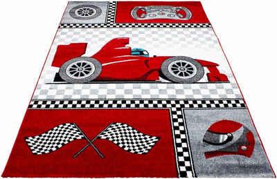 Kinderteppich »Kids 460«, Ayyildiz, rechteckig, Höhe 12 mm, Kurzflor, Motiv Rennwagen