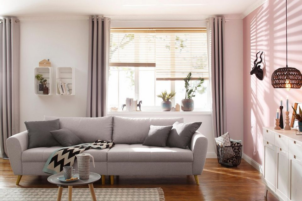 home affaire big sofa penelope feine steppung lose kissen skandinavisches design online. Black Bedroom Furniture Sets. Home Design Ideas