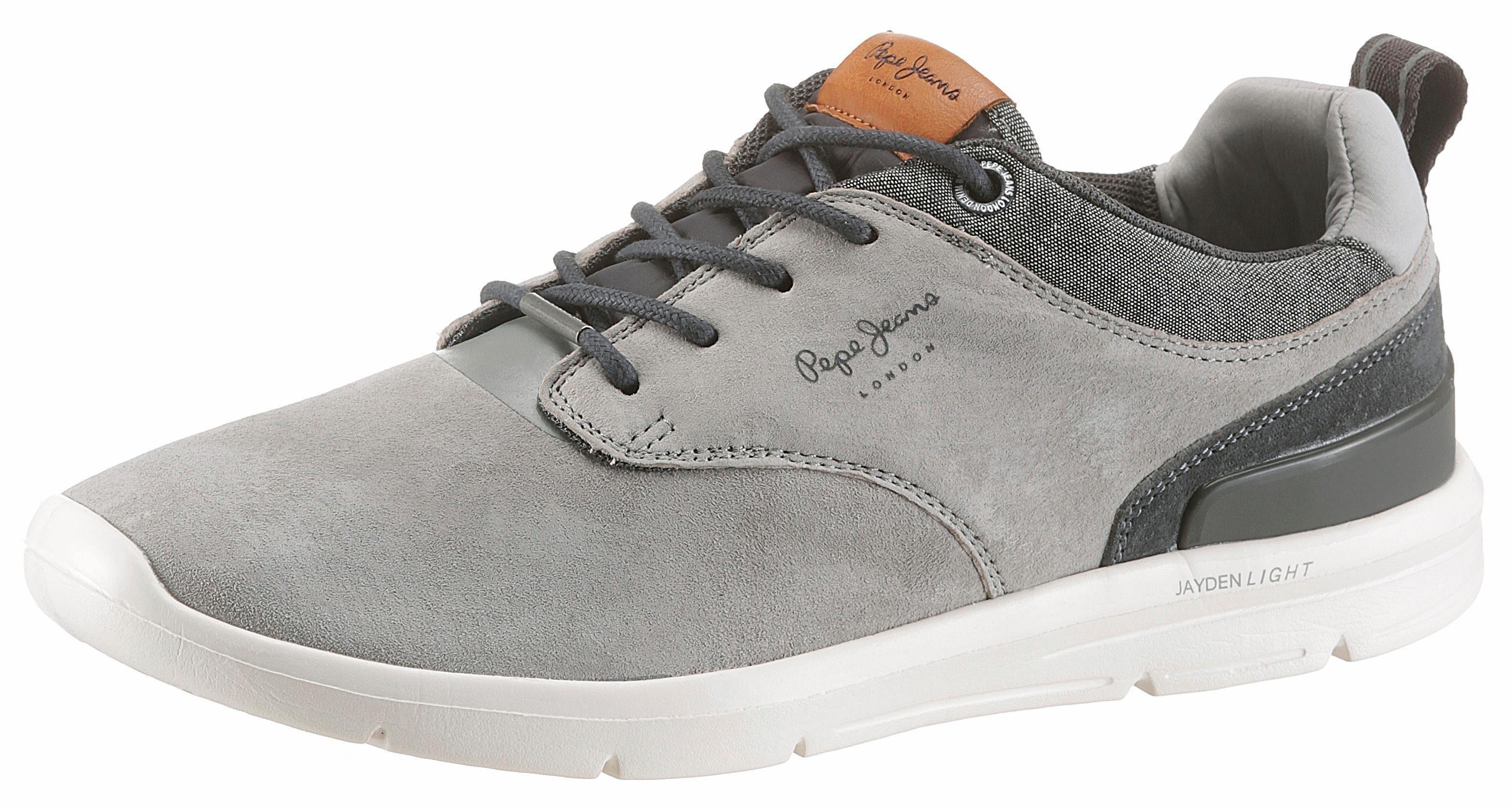 Pepe Jeans Sneaker, mit Schaftrand aus Textil  grau