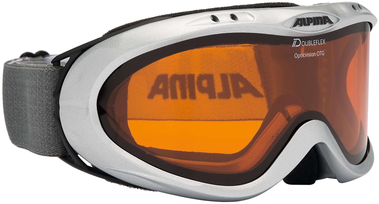 Skibrille, silber, für Brillenträger, Alpina, »Opticvision«, Made in Germany