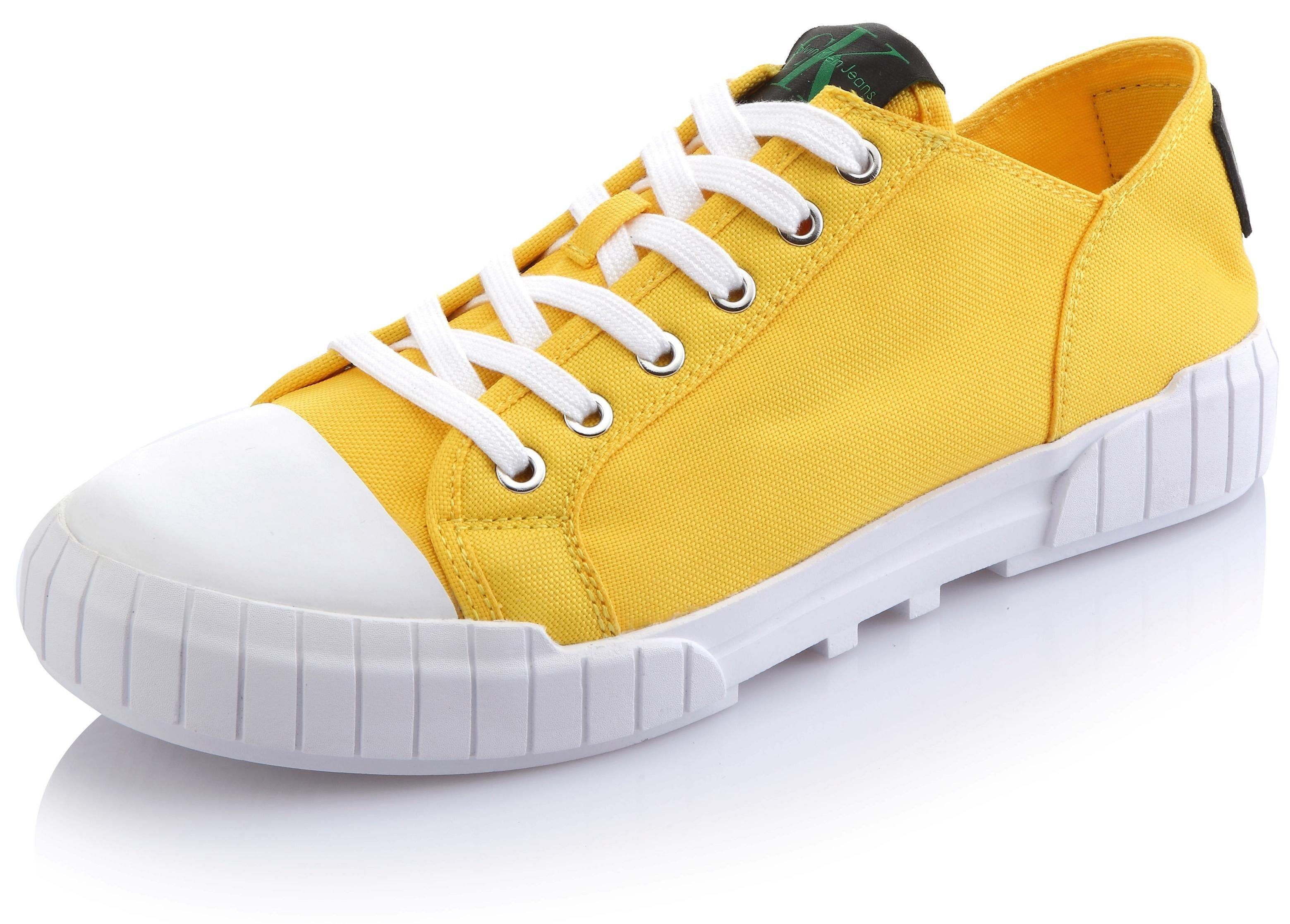 Calvin Klein Biff Sneaker, mit strukturierter Laufsohle online kaufen  gelb