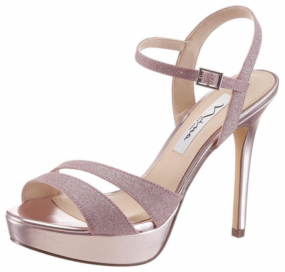 nina silana high heel sandalette im sch nen metallic. Black Bedroom Furniture Sets. Home Design Ideas