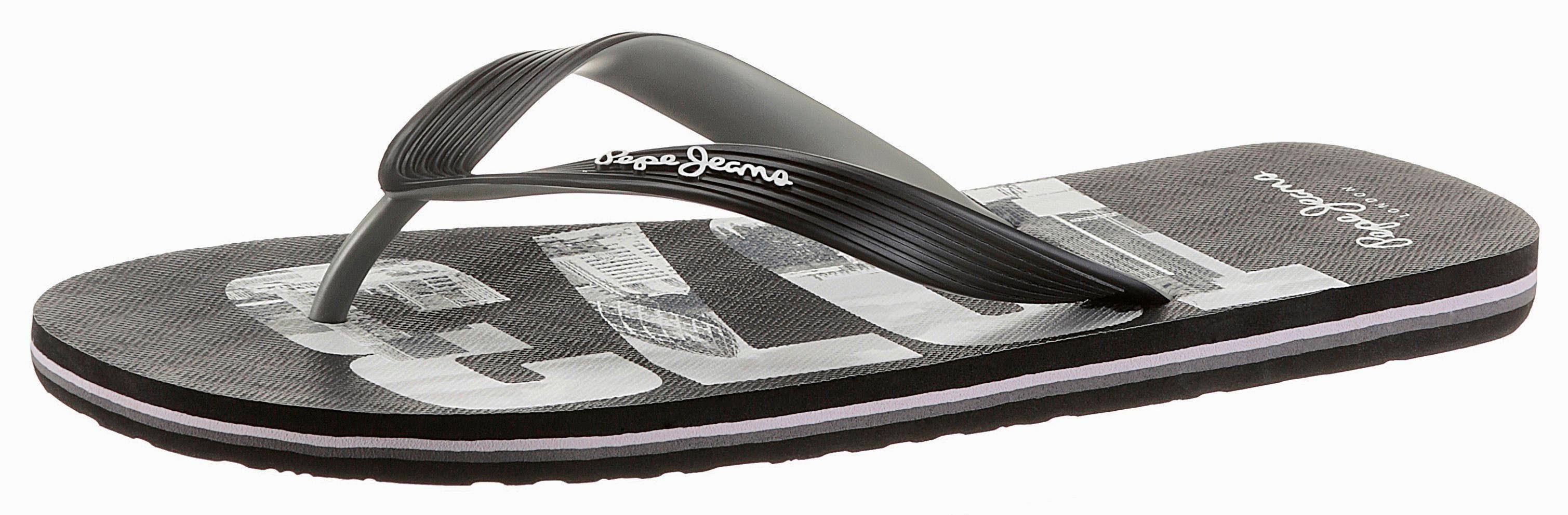 Pepe Jeans Zehentrenner, perfekt für den Strand  schwarz