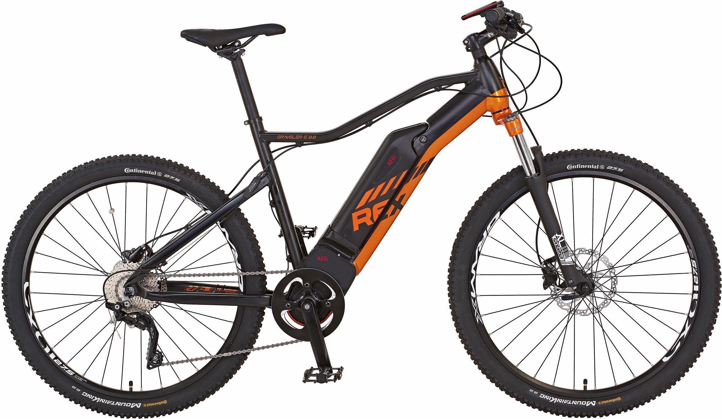 REX MTB E-Bike, HR-Motor 48V/250W, 27,5 Zoll, 10 Gang Shimano XT, »Graveler e 8.8 HT«