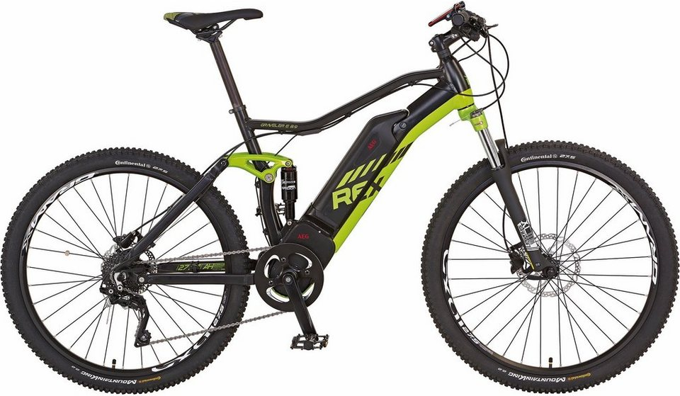 rex fully mtb e bike mittelmotor 48v 250w 27 5 zoll 10. Black Bedroom Furniture Sets. Home Design Ideas