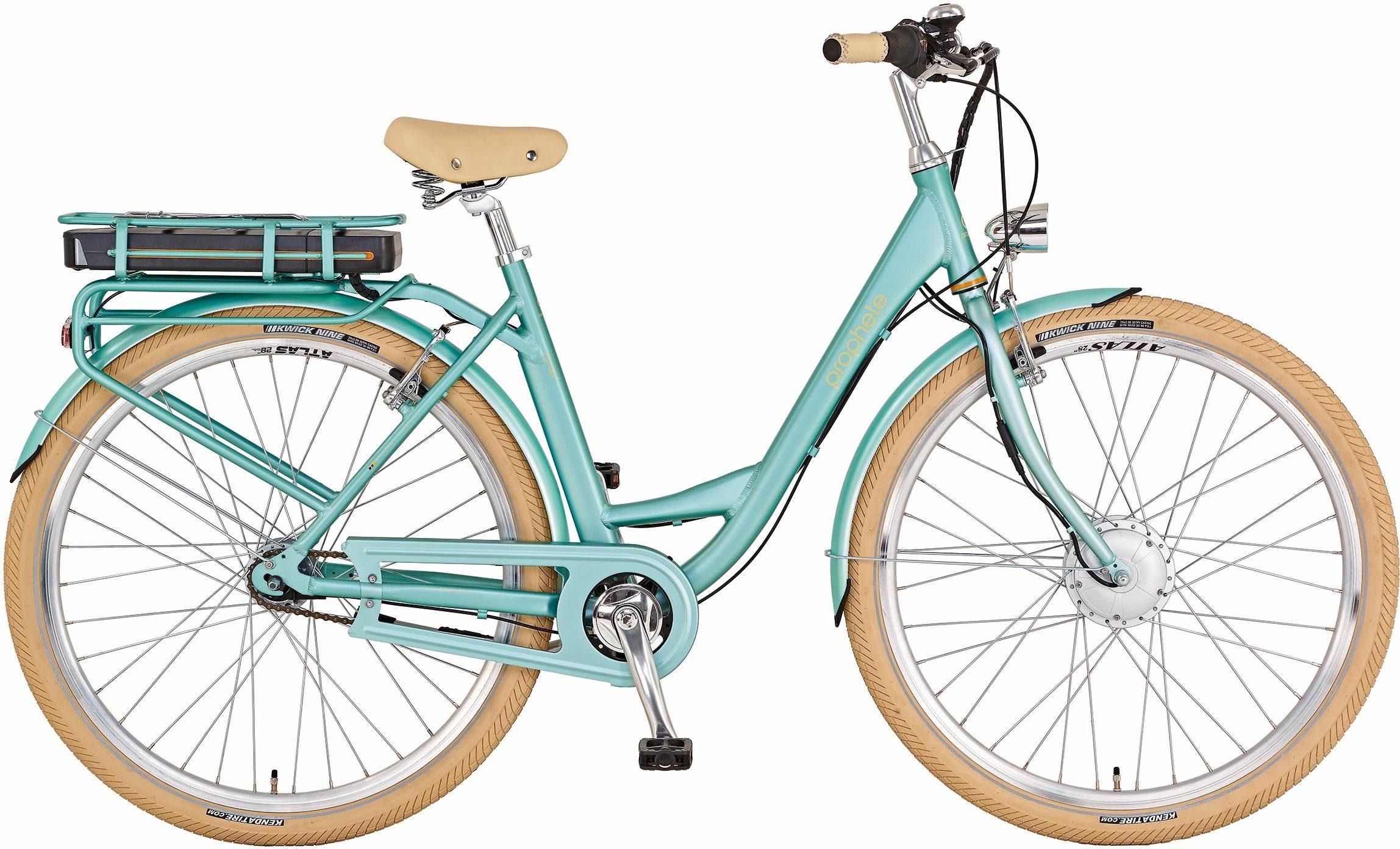 Prophete Damen City E-Bike, Vorderradmotor 36V/250W, 28 Zoll, 7 Gang Shimano Nexus, »Flair e«