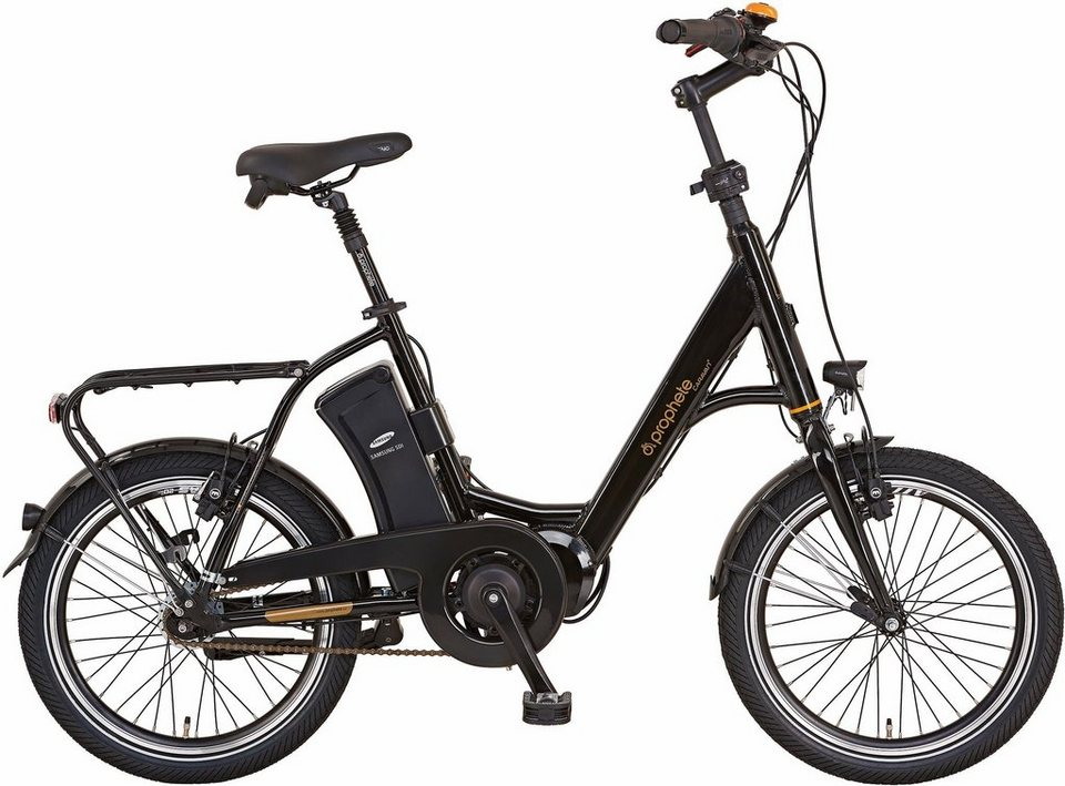 prophete kompakt e bike mittelmotor 36v 250w 20 zoll 7. Black Bedroom Furniture Sets. Home Design Ideas