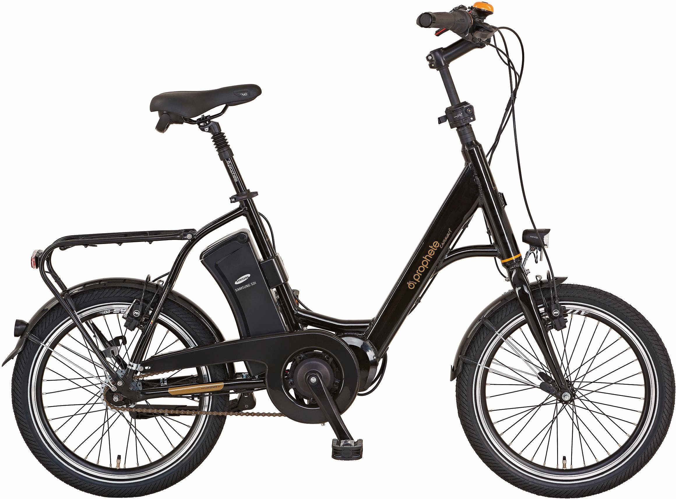 Prophete Kompakt E-Bike, Mittelmotor 36V/250W, 20 Zoll, 7 Gang Shimano Nexus, »Navigator Caravan e«