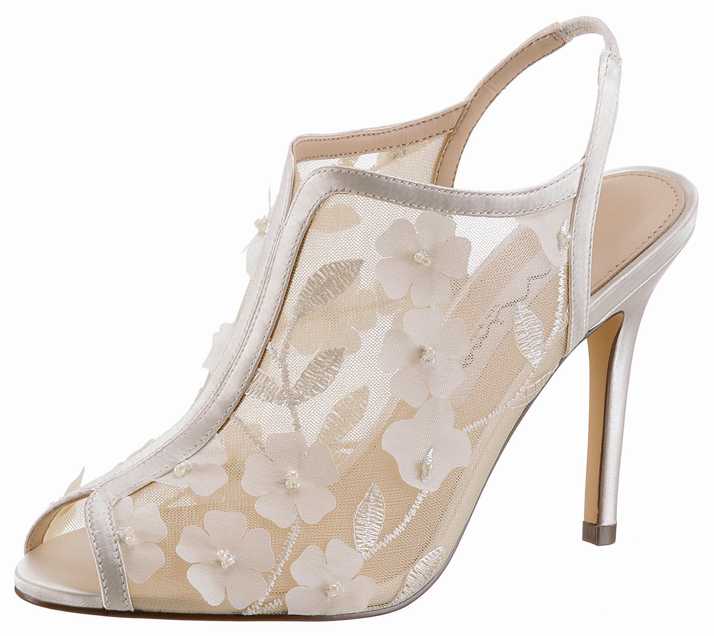 Nina Meggin High-Heel-Sandalette, ideal als Brautschuh online kaufen  offwhite