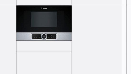 BOSCH Einbau-Mikrowelle BFR634GW1, Mikrowelle, 21 l