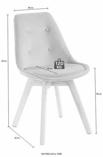 4-Fußstuhl »Oldham«  Microfaser (2 Stück)