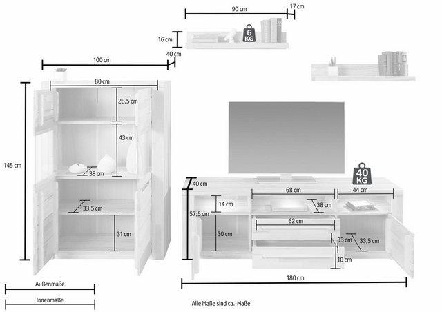 Wohnwände - Wohnwand »Kolding«, (Set, 4 tlg)  - Onlineshop OTTO