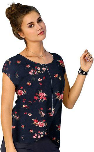 Shirt mit hübschem Druck-Dessin im Vorderteil