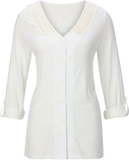 Shirtbluse in Feinstrick-Optik