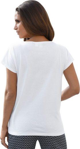 Shirt mit 2-farbiger Stickerei