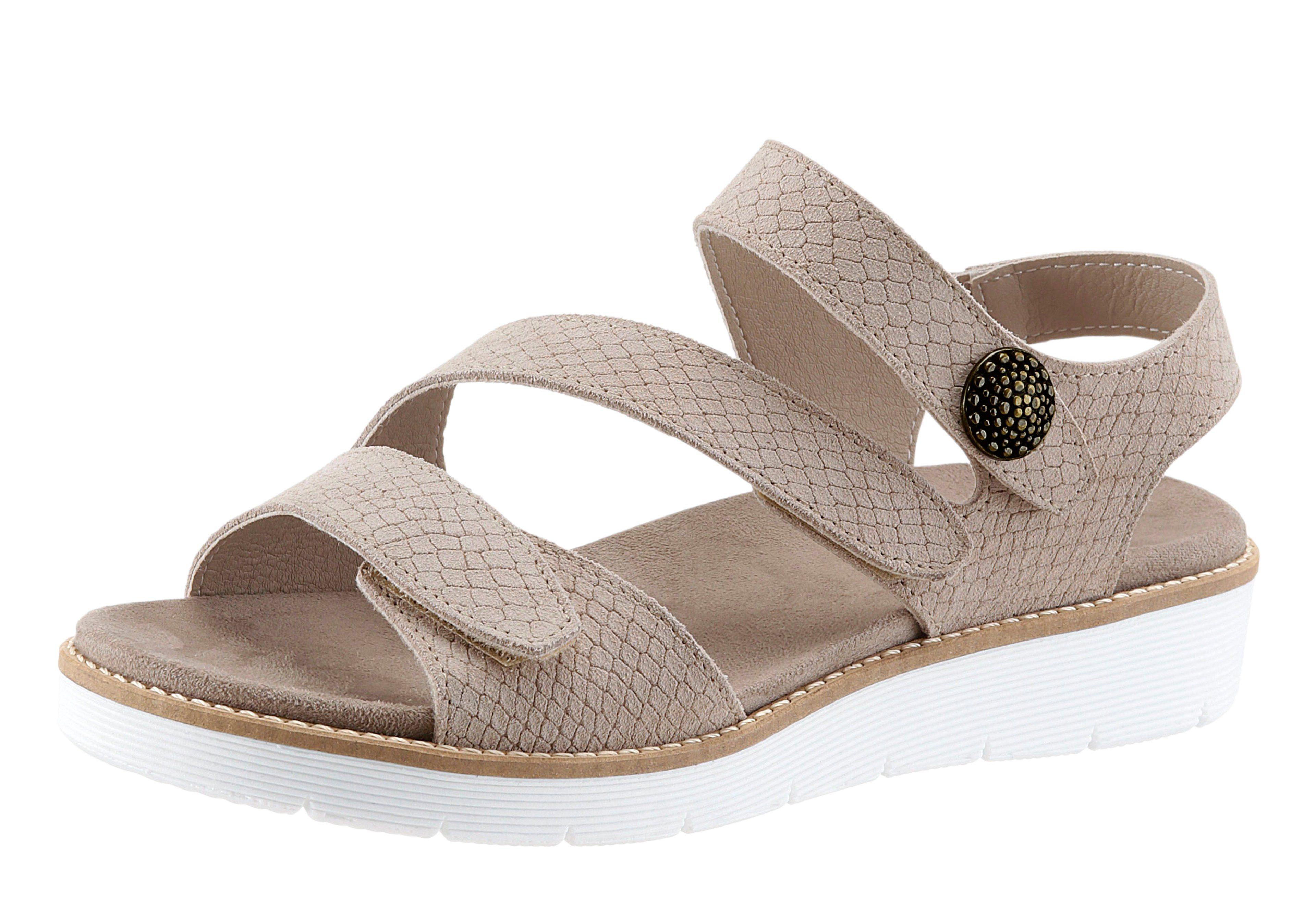 Aco Sandalette mit leichter Kroko-Prägung kaufen  beige