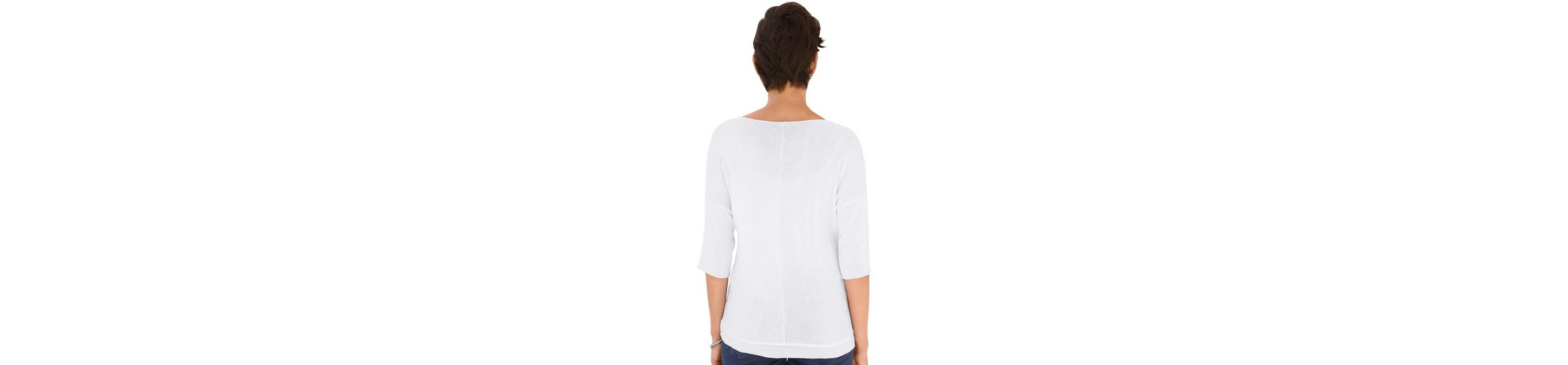 Creation L Shirt mit silberfarbigem Glanzdruck vorne Für Schön Qualität Frei Versandstelle r8uwbx0c9t