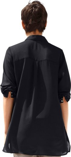 Creation L Bluse mit Ärmel zum Hochkrempeln und Anknöpfen