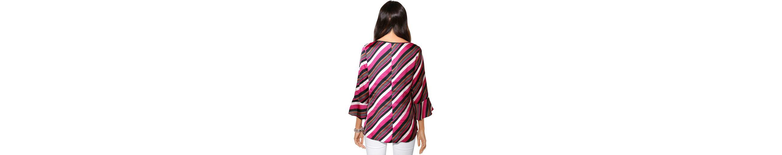 Bestes Großhandel Online Creation L Bluse im diagonalen Streifen-Dessin Online-Verkauf s8zzd