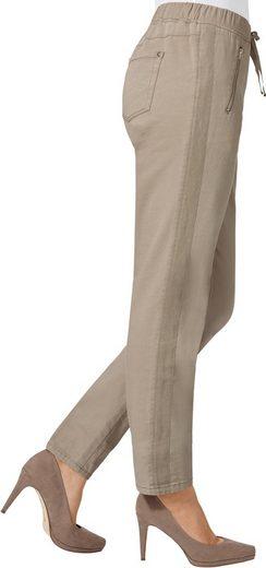 Pantalon De Création Avec Bande Brillante Le Long De La Couture Latérale