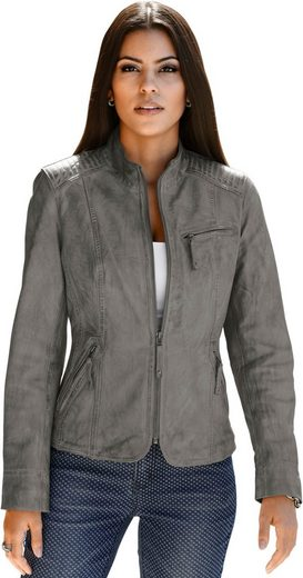 Mainpol Leather Jacket In Casual Look