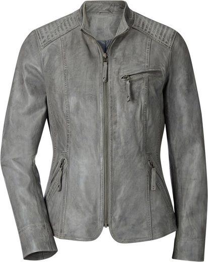 Mainpol Leder-Jacke im Lässig-Look