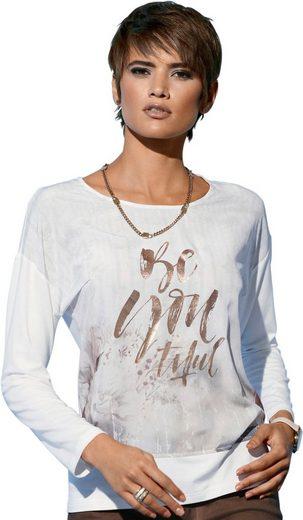 Creation L Shirt mit schwungvollem Schriftzug